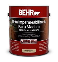 Behr tinta stain impermeabilizante para madera semi - Como impermeabilizar madera ...