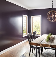 Dining room painted in semi-gloss sheen.